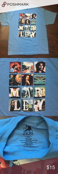Bob Marley many faces blue short sleeve NWOT tee Bob Marley many faces blue short sleeve men's NWOT tee Zion Shirts Tees - Short Sleeve