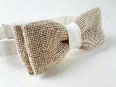 Rustic bow tie. Shabby chic. Hessian. Burlap. by ditasboutique
