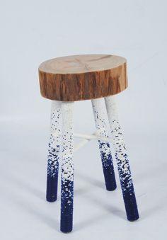 Stool with beaded legs - Elle Deco Solve Leanne Bates Thando stool