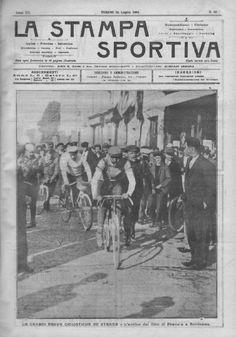 Tour de France 1904. 4^Tappa, 17 luglio. Toulouse > Bordeaux. L'arrivo della tappa [La Stampa Sportiva]
