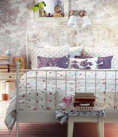ideas for ikea leirvik bed Dream Bedroom, Home Bedroom, Bedroom Furniture, Bedroom Decor, Bedroom Ideas, Master Bedroom, Floral Bedroom, Floral Bedding, White Bedding