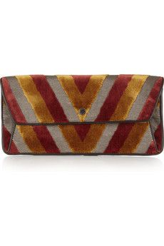 Marc by Marc Jacobs Chevron velvet and twill clutch $280.00 @Alma Musvosvi ....why did he make this?