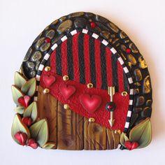 sandylandya@outlook.es Cupid Fairy Door Pixie Portal by Claybykim on Etsy, $23.00