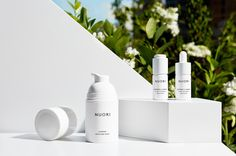 includes one of every essential face and body product: one face cream, one cleanser, one eye cream, one body balm and more. Nuori's latest addition is . Skincare Packaging, Cosmetic Packaging, Gift Packaging, Cosmetic Design, Cosmetic Display, Facial Treatment, Eye Cream, Face And Body, Natural Skin Care