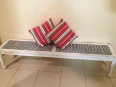 Beach Inspired White/Grey Bench Seat