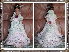 d'Annie au pays des merveilles Barbie Wedding, Doll Clothes, Marie, Creations, Crochet Cowls, Knitting, Pattern, Dragon, Inspiration