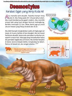 Buku Pintar Ensiklopedia Dinosaurus dan Binatang Purba KATA BACA Malay Language, Animal Facts, Book Layout, Jurassic World, Dinosaurs, Studying, Knowledge, Science, Horses