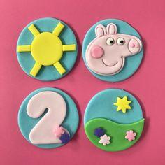Peppa Pig Cupcake Toppers-Fondant
