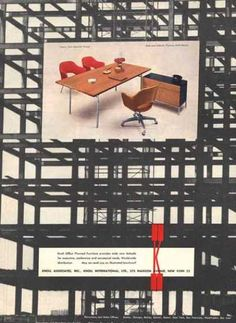 Knoll office furniture ad, 1957