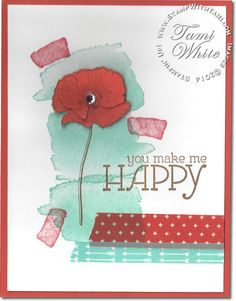 CARD: You Make Me Happy   Stampin Up Demonstrator - Tami White - Stamp With Tami Stampin Up blog