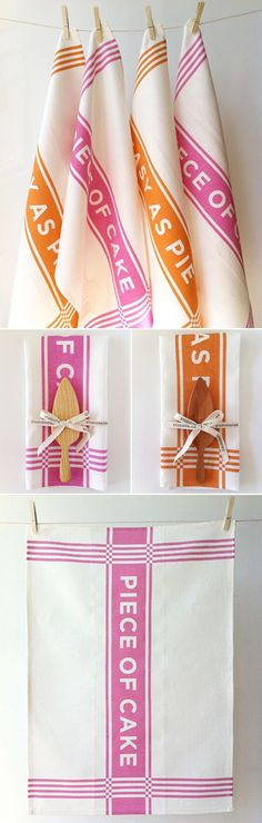 d.i.y. dish towels and baking utensils.