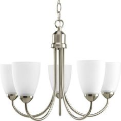 Progress Lighting Gather Collection 5-Light Brushed Nickel Chandelier-P4441-09 at The Home Depot