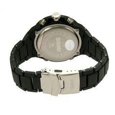 SKMEI 1016 Men's 50m Waterproof Analog + Digital Dual Mode Display Sports Watch - Black