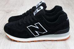 Модные мужские замшевые кроссовки Нью Баланс New Balance черные