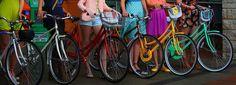 Pastel bicycles