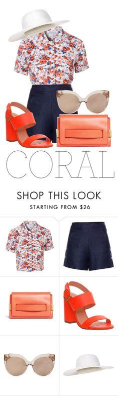 """Coral"" by alexa-anita2010 ❤ liked on Polyvore featuring Glamorous, Loro Piana, Chloé, Office, Linda Farrow and Monsoon"