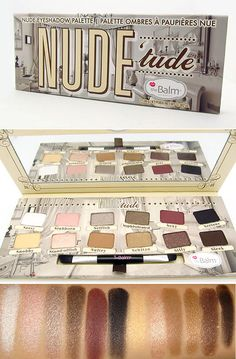 "theBalm Nude 'tude Eyeshadow Palettepigmented, smooth, blendable & long lasting ""nude"" shades."