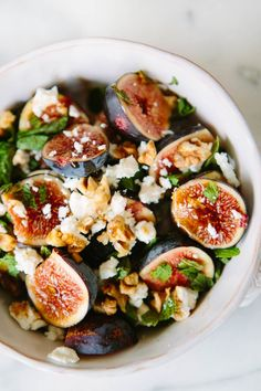 Fig Mint + Goat Cheese Salad | A House in the Hills