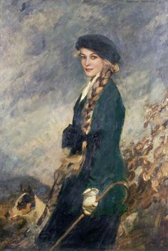 Girl in a green jersey, Frederic Whiting   c. 1908