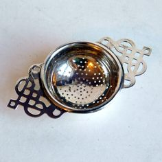 Vintage Art Deco Silver Plate Tea Strainer Made by vintagedazzle