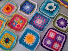 Different patterns and ideas...crochet granny squares