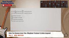 Like I'm Gonna Lose You  Meghan Trainor ft.John Legend Guitar Backing Tr...