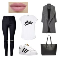 """"""""""" by mxvdx on Polyvore featuring mode, WithChic, adidas, Miss Selfridge en Yves Saint Laurent"""