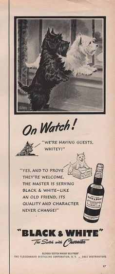 1950 Vintage Black and White Whiskey Were Having Guests Print Ad   eBay