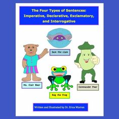 4 Types Of Sentences Worksheets - Embedded Memory Strategies – Good Sensory Learning - This downloadable PDF document offers a unique, fun and creative explanation for the four types of sentences. Hand-drawn, cartoon characters offer a comic-book-like explanation for imperative sentences, declarative sentences, exclamatory sentences, and interrogative sentences... #fourtypesofsentences #4sentencetypes #foursentencetypes Types Of Sentences Worksheet, Memory Strategies, Social Emotional Development, Cultura General, Reading Specialist, Executive Functioning, Help Teaching, Educational Games, Dyslexia