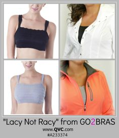 "'Lacy Not Racy' Cami Bra from GO2BRAS! ""Get the layered look without the bulk or warmth of a an extra layer this spring and summer!"" 34-42 B-DDD cup sizes"