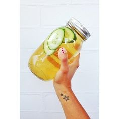 camomile iced tea with cucumber & ginger