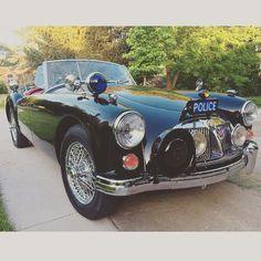 Ken Geljack's 1961 MGA MK II police car! I did a frame-up restoration. University Motors Grand Rapids ordered the needed items from Moss: interior, top, tonneau cover, wire harness, engine area, etc. #MyMossParts