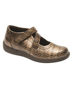 Love this Brown Lizard Orchid Leather Shoe by Drew Shoe on #zulily! #zulilyfinds