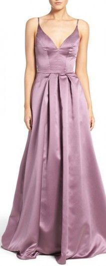 Hayley Paige Satin Gown - Beautiful, very flattering and comfortable.