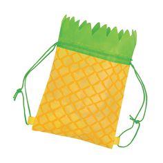 7b884210df Medium Pineapple Drawstring Bags