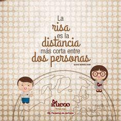 La risa es la distancia más corta entre dos personas #frases #EnPositivo