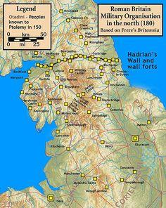 roman scotland - Google Search Roman Empire Map, Hadrian's Wall, Roman Roads, Roman Britain, History Teachers, Family Genealogy, Historical Maps, British Isles, Romans