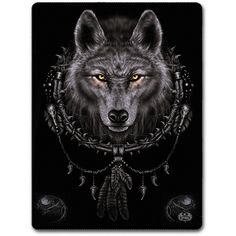 Wolf Dreams fleecefilt stor