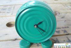 Homemade Tin Can Clock