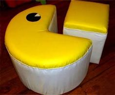 195$This amazing Pac-Man themed ottoman is great for game rooms, kids playrooms, and living rooms for those that cannot get enough geeky video game paraphernalia. Not since the Q-bert love seat has video game themed furniture been so awesome. Specifically, this two-piece Pac-Man ottoman is a great conversation piece and made from comfy acrylic upholstery.…