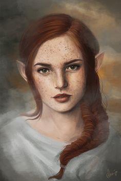 ArtStation - Saoirse, Ananjo Art High Fantasy, Medieval Fantasy, Fantasy Art, Character Portraits, Character Art, Character Ideas, Fantasy Inspiration, Character Inspiration, Sisters Of Silence