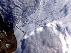 Wilkins Ice Shelf -- thin ice.