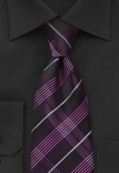 Corbata escocesa púrpura negro
