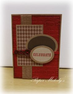 Brown and Brick Masculine Birthday Card by Paper Melody's