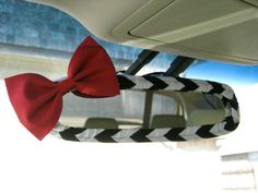Matches my steering wheel cover. The Original Custom Rear View Mirror Cover with by BeauFleurs, $20.00