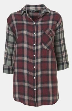 Topshop Check Shirt available at #Nordstrom