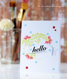 Hello Card by Wanda Guess for Papertrey Ink (April 2017)