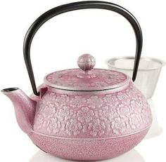 This small Japanese cast iron teapot (tetsubin) is beautifully decorated with cherry blossoms.