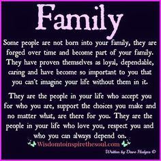 Wisdom To Inspire The Soul: What family is all about.