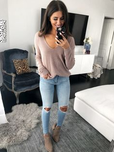 Stylish Vovo Loose 6 Colors Long Sleeves Sweater Tops – Stylishvovo 20 Fall Outfits Ideas for Women Casual Comfy and Simple Black Women Fashion, Look Fashion, Teen Fashion, Winter Fashion, Fashion Outfits, Cheap Fashion, Fashion Clothes, Feminine Fashion, Women's Clothes